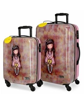 Santoro Gorjuss Juego de maletas Gorjuss The Secret rígidas 55- Multicolor - 1