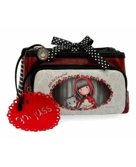 Neceser pequeño Gorjuss tres compartimentos Little Red Riding Hood Santoro Gorjuss Multicolor 21cm | Maletia.com