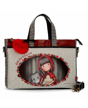 Bolso Gorjuss para ordenador Little Red Riding Hood Santoro Gorjuss Multicolor 39cm | Maletia.com