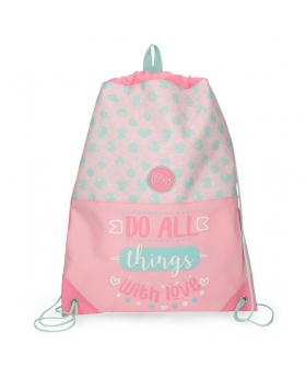 Mochila saco  Do All Roll Road Rosa 42cm | Maletia.com