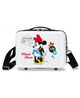 Minnie Mouse Neceser adaptable a trolley Minnie Enjoy the Day Dots Blanco - 1