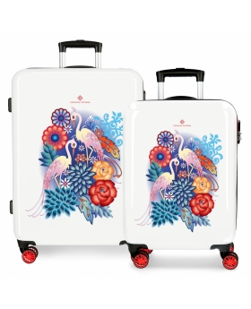 Catalina Estrada Juego de maletas  Abanico rígidas 55- rojo Rojo - 1