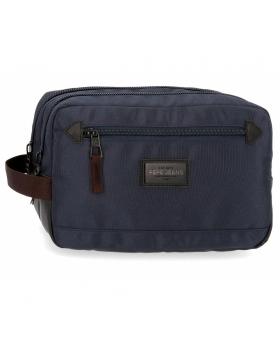 Neceser Doble Compartimento Adaptable  Lambert  Pepe Jeans Azul 26cm | Maletia.com