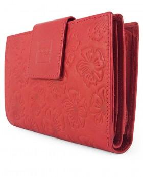 Billetero de piel con pollera Acq Dahlia Rojo - 14cm | Maletia.com