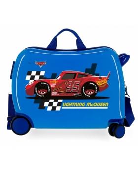 Cars Maleta infantil 2 ruedas multidireccionales McQueen  Azul - 1