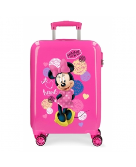 Minnie Mouse Maleta de cabina rígida Minnie Heart Rosa - 1