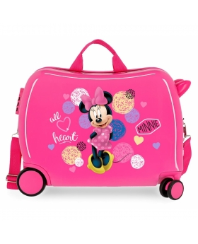 Minnie Mouse Maleta infantil 2 ruedas multidireccionales Minnie Heart Rosa - 1