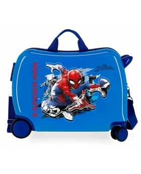 Spider-Man Maleta infantil 2 ruedas multidireccionales Spiderman Geo  azul - 1