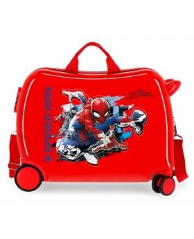 Spider-Man Maleta infantil 2 ruedas multidireccionales Spiderman Geo roja Rojo - 1