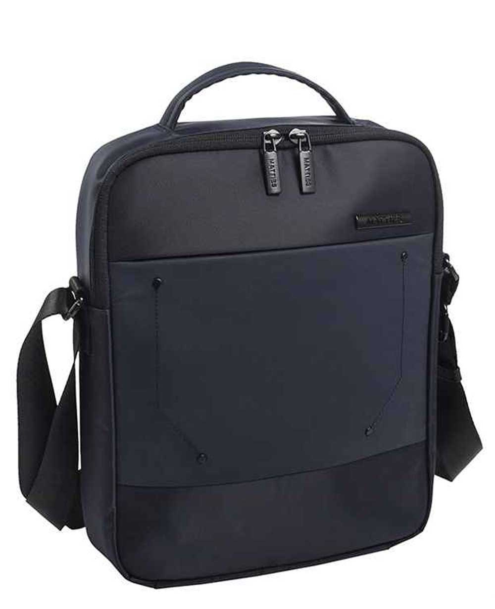 "Matties Bags 10.2"" Bandolera Nylon Negra (Foto )"