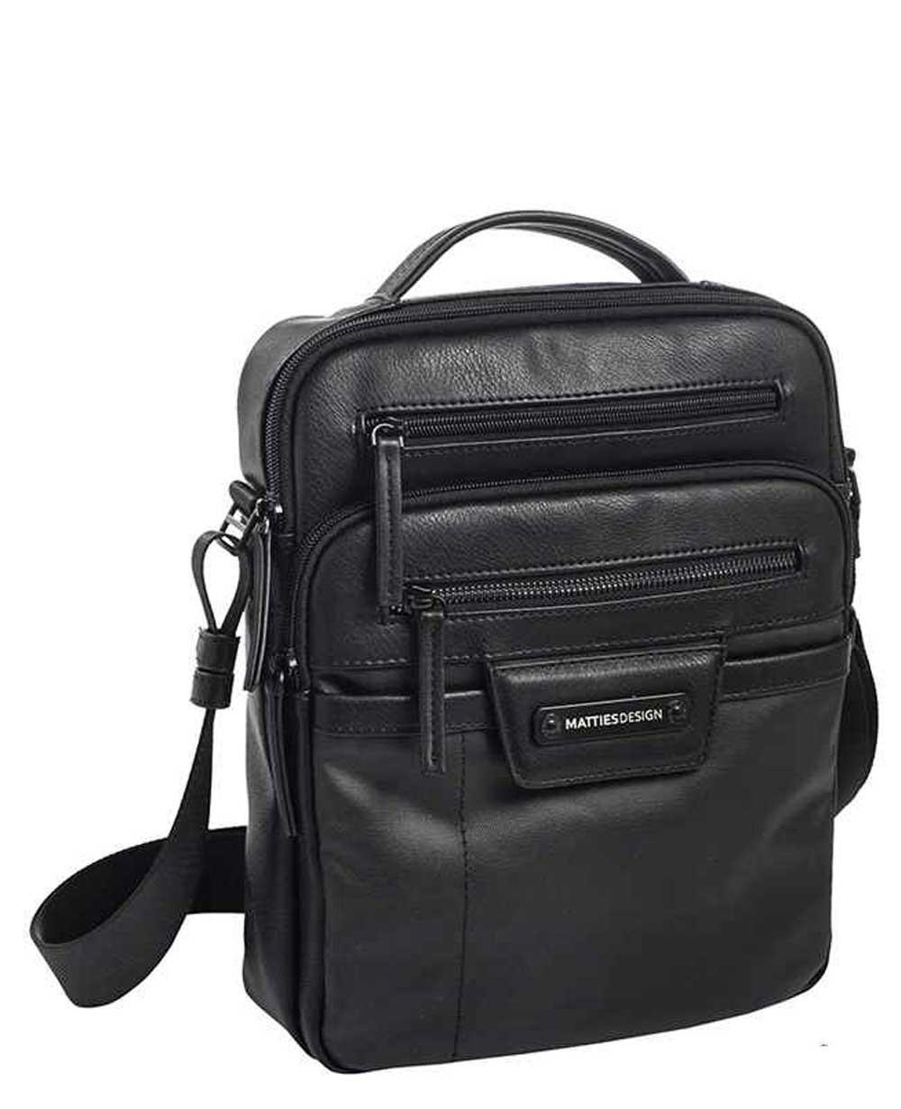 "Matties Bags 10.2"" Bandolera Lona Negra (Foto )"