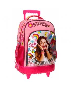 Soy Luna Mochila trolley compac  Smile Multicolor - 1