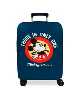 Disney Funda para maleta de cabina Mickey azul Azul - 1