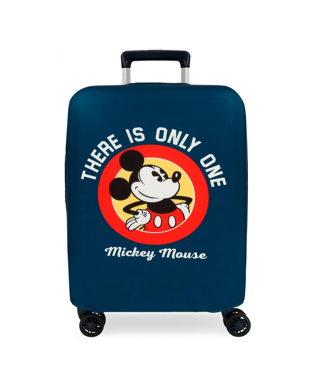 Disney Funda para maleta de cabina Mickey Azul (Foto )