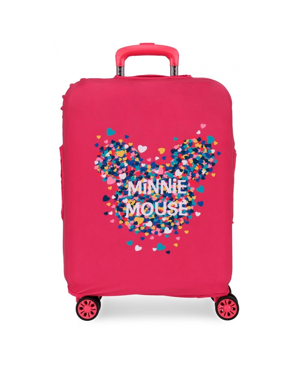 Disney Funda para maleta de cabina Minnie fucsia Rosa (Foto )