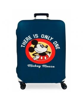 Disney Funda para maleta mediana Mickey azul Azul - 1