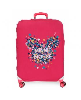 Disney Funda para maleta mediana Minnie fucsia Rosa - 1
