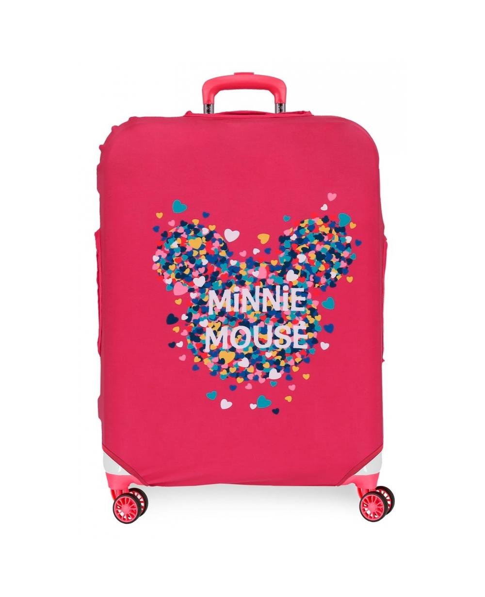 Disney Funda para maleta mediana Minnie Fucsia (Foto )