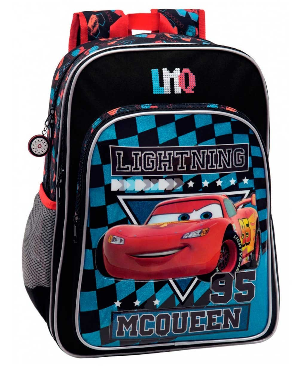 Disney Cars McQueen Mochila adaptable Negra (Foto )