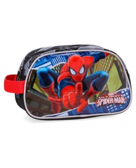 Neceser Marvel Spiderman Negro - 26cm | Maletia.com