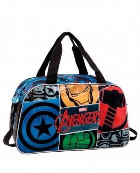 Bolsa de Viaje Marvel Avengers Icons Negra - 45cm | Maletia.com