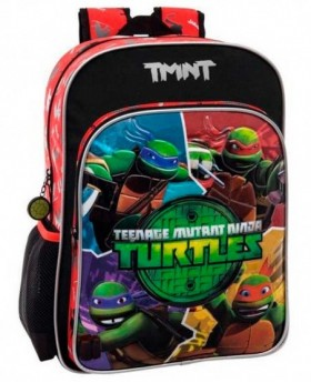 Tortugas Ninja Cartoon Mochila Adaptable Negra