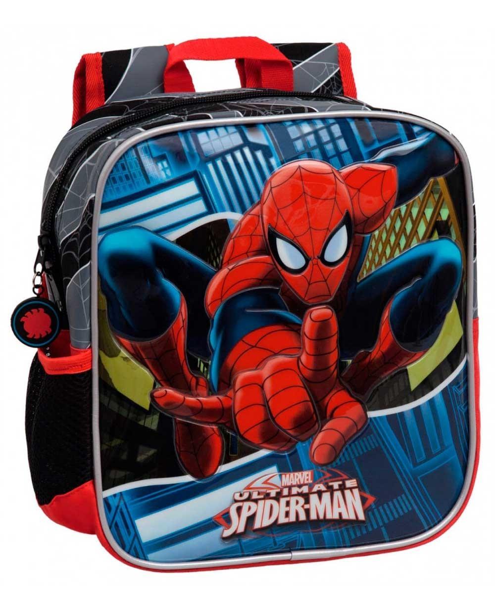 Spiderman Mochila preescolar Negra (Foto )
