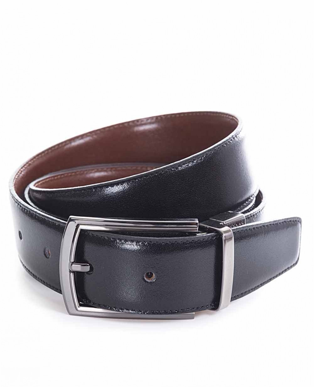 Miguel Bellido Cinturón clásico reversible Piel Negro/Marrón 100 (Foto )