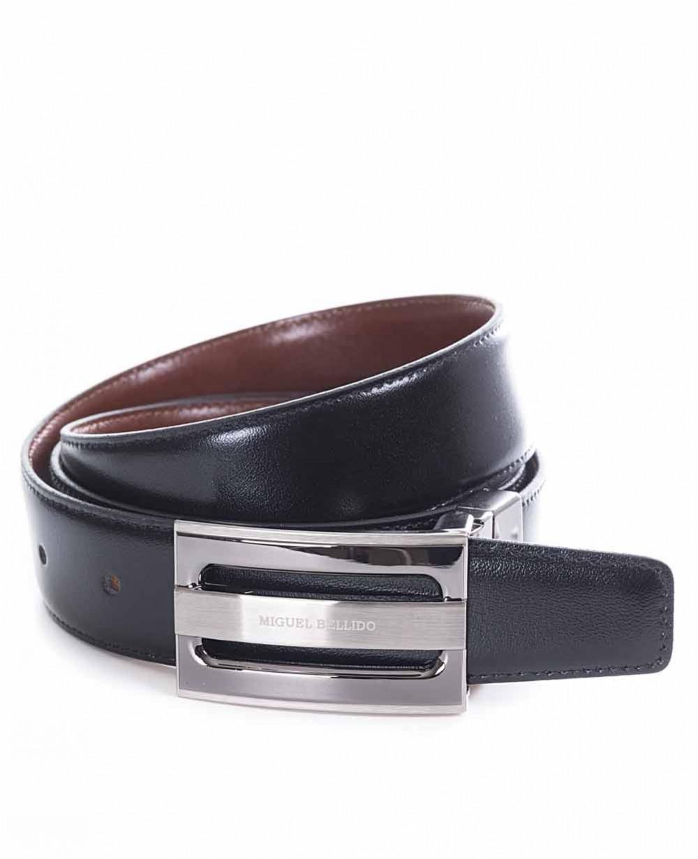 Miguel Bellido Cinturón clásico reversible Piel Negro/Marrón 105 (Foto )