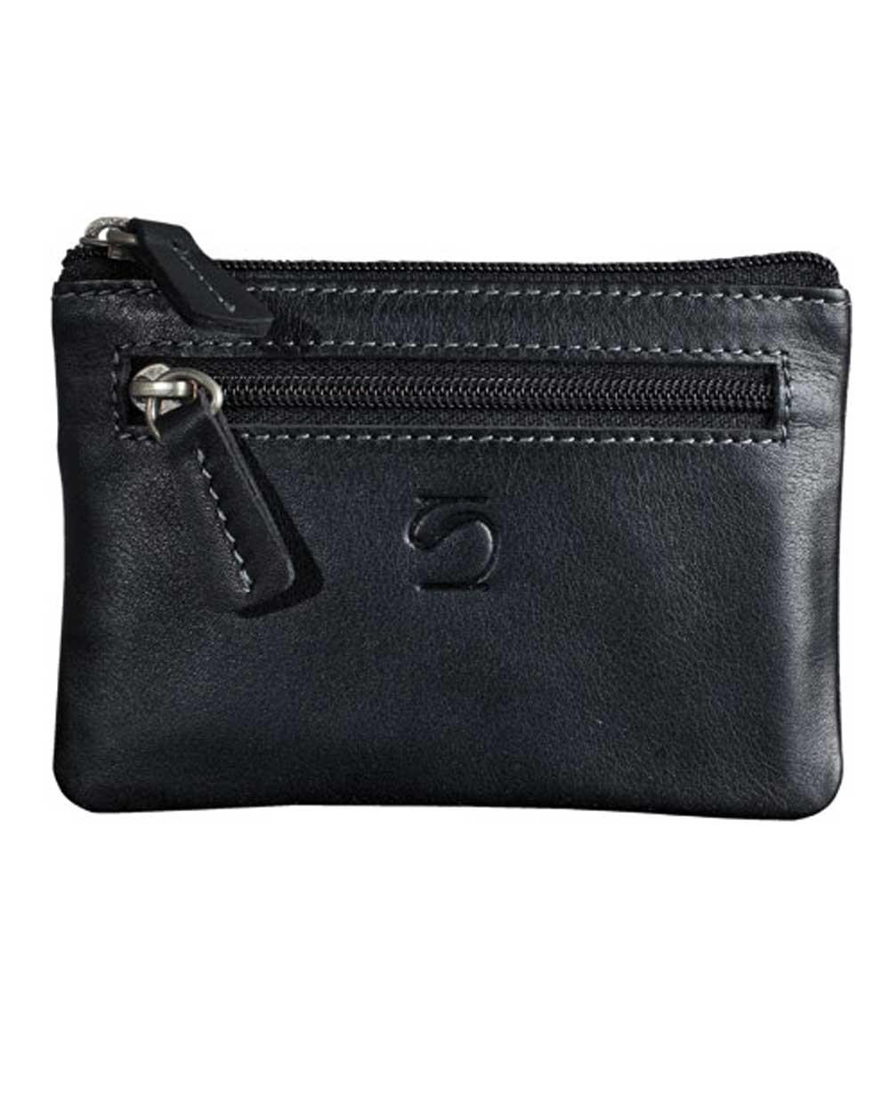 Matties Bags Exotic Monedero de Piel Negro (Foto )