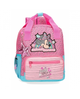 Minnie Mouse Mochila Minnie Pink Vibes Preescolar  adaptable Rosa - 1