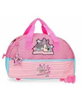 Bolsa de viaje Minnie Pink Vibes  Minnie Mouse Rosa 40cm | Maletia.com