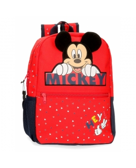 Mickey Mouse Mochila Happy Mickey  Rojo - 1