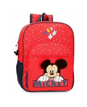 Mickey Mouse Mochila Happy Mickey  adaptable a carro Rojo - 1