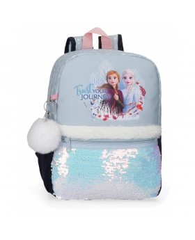 Frozen Mochila  Trust your journey  Azul - 1