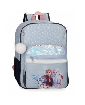 Frozen Mochila Trust your journey escolar 38cm adaptable Azul - 1