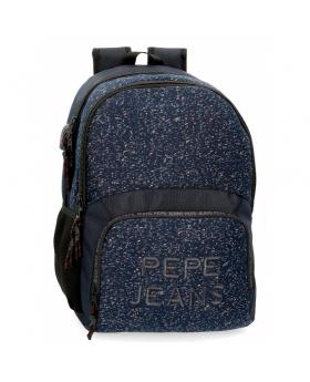 Pepe Jeans Mochila  Hike para portátil dos compartimentos azul Azul - 1