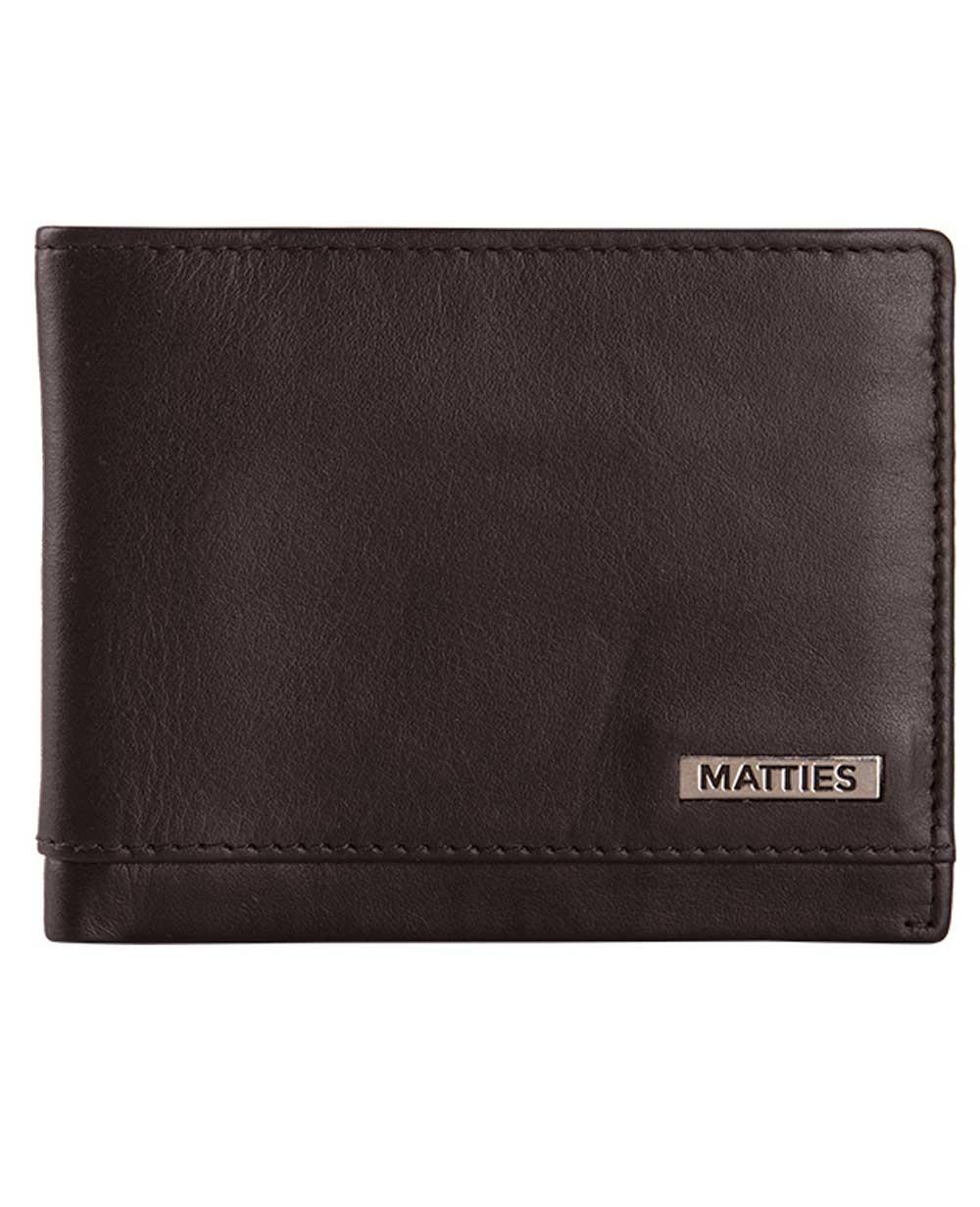 Matties Bags Valentino Billetero americano de Piel Marrón (Foto )