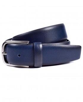 Cinturón de piel Miguel Bellido Clásico Azul - 100cm | Maletia.com