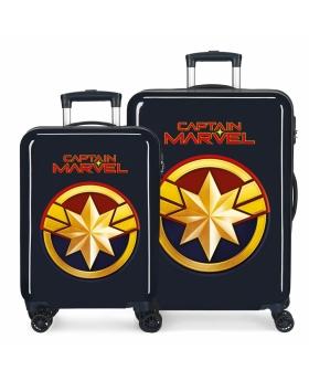 Marvel Juego de Maletas Capitan  rígidas 55- Azul - 1