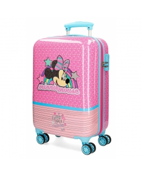 Minnie Mouse Maleta de cabina Minnie Pink Vibes rígida  Rosa - 1