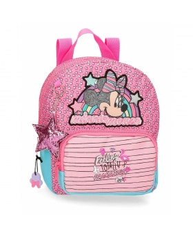 Minnie Mouse Mochila Guardería Minnie Pink Vibes Rosa - 1