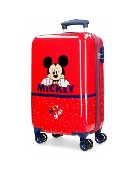 Mickey Mouse Maleta de cabina Happy Mickey rígida  Rojo - 1