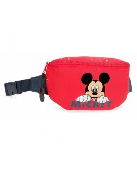 Mickey Mouse Riñonera Happy Mickey Rojo - 1