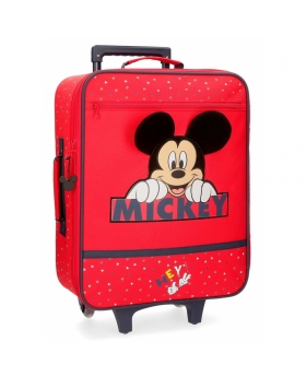 Mickey Mouse Maleta de cabina Happy Mickey  Rojo - 1