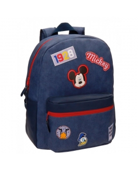 Disney Mickey Parches Mochila adaptable Azul