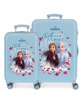 Frozen Juego de Maletas  Trust your journey rígidas 55- Azul - 1
