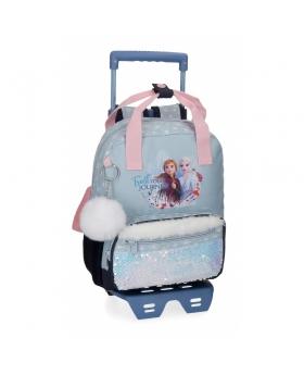 Frozen Mochila Trust your journey Preescolar  con carro Azul - 1