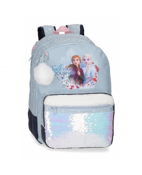 Frozen Mochila Escolar  Escolar Trust your journey  Azul - 1