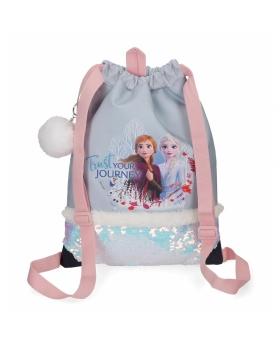 Frozen Mochila saco  Trust your journey Azul - 1